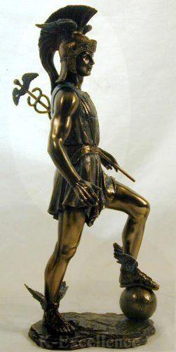 Ancient Greek God Hermes Roman God Mercury Bronze Powder Cast Statue Hermes Mythology Greek Gods And Goddesses Hermes Statue