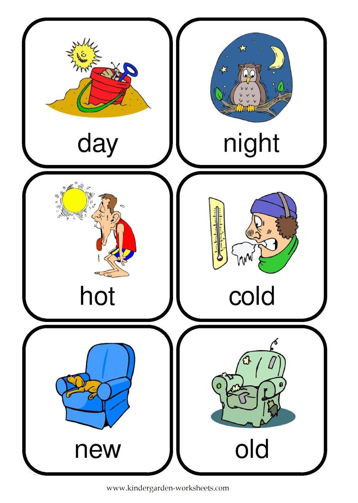 Opposites Worksheet For Kindergarten Opposite Words