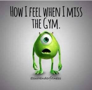 Image result for miss the gym meme