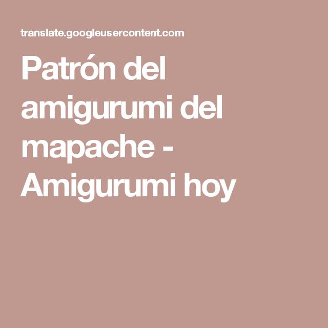 Patrón del amigurumi del mapache - Amigurumi hoy | mapache ...