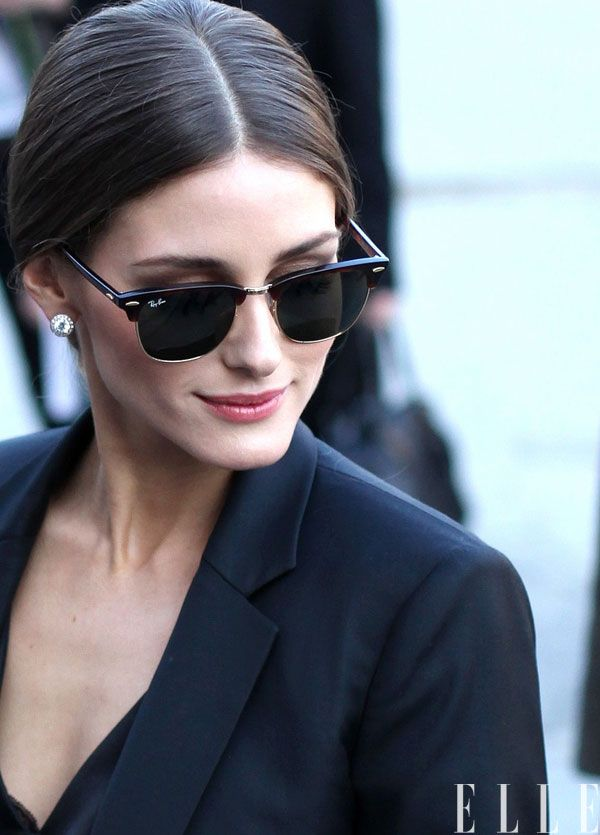 83c6b648dc Rayban Clubmasters v Olivia Palermo. elle chic. sometimes all you need is a  great pair of sunglasses Sunglasses Outlet