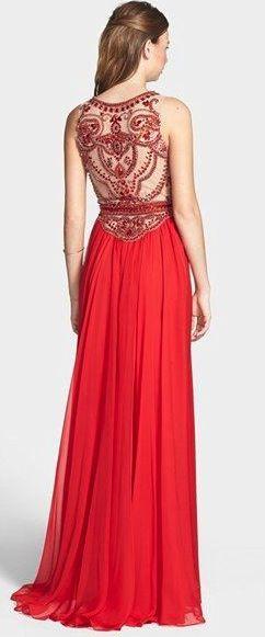 Sherri Hill Embellished Chiffon Gown