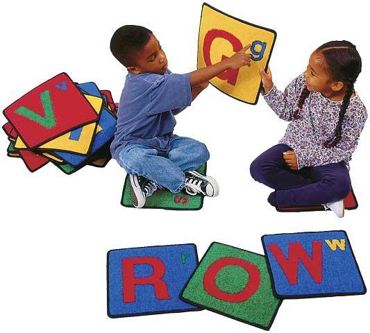Valueplus Alphabet Squares Set Of 26 Carpets For Kids Classroom Rug Carpet Squares