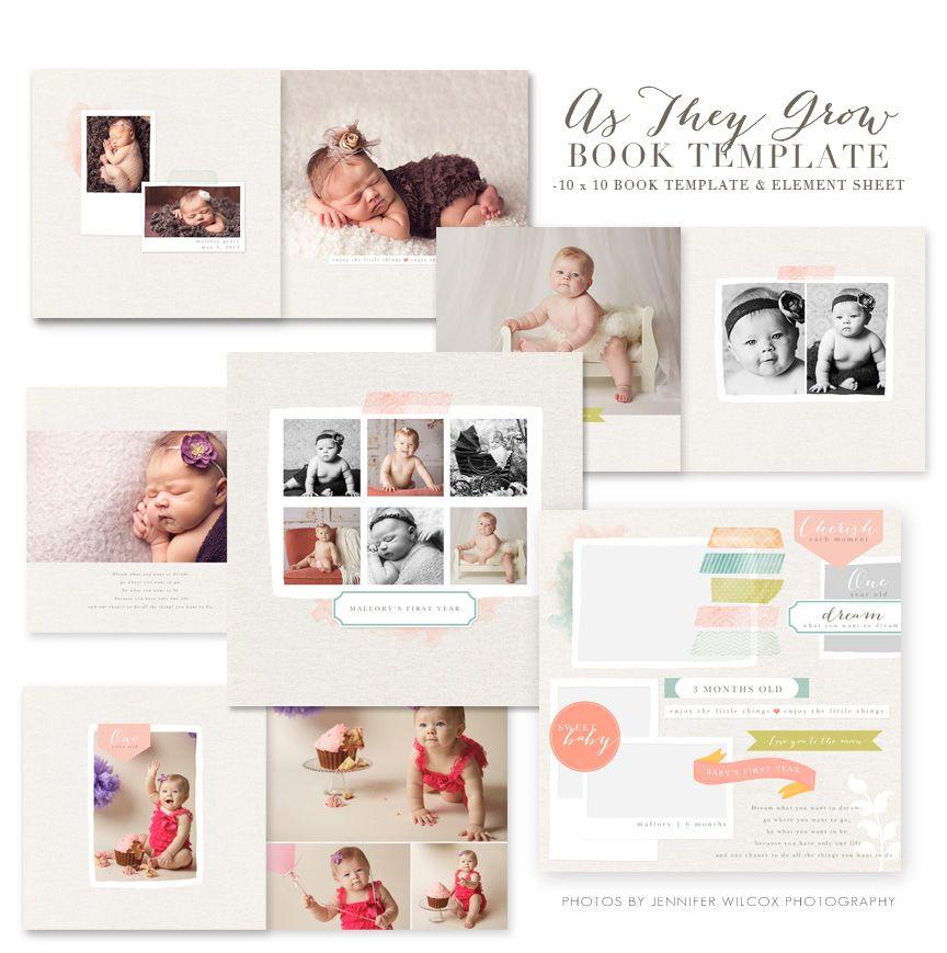 Jamie Schultz Designs As They Grow Baby Photo Books Diy Photo Book Baby Album