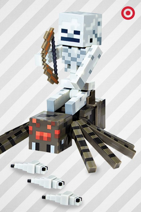 It's spider-ridin' time with this fun gift straight out of Minecraft. The arms and legs move on the figures for even more action. This makes a great gift for young adventure seekers.
