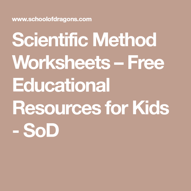Scientific Method Worksheets – Free Educational Resources for Kids