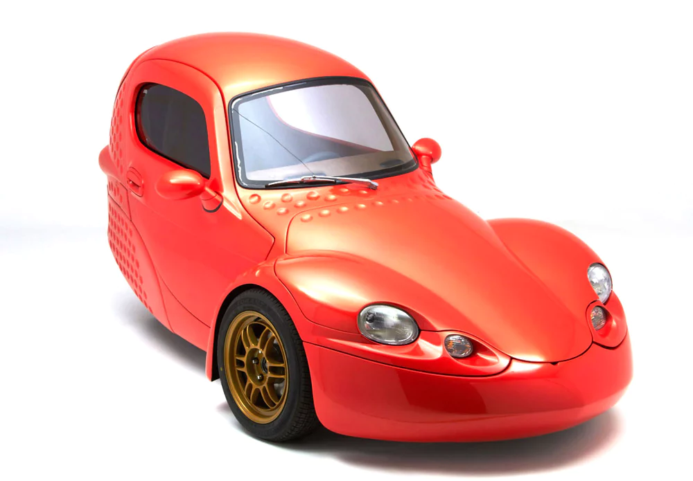 Corbin Sparrow Electric Three Wheeler Now With Dimpled Backside Reverse Trike Funny Looking Cars Mini Cars
