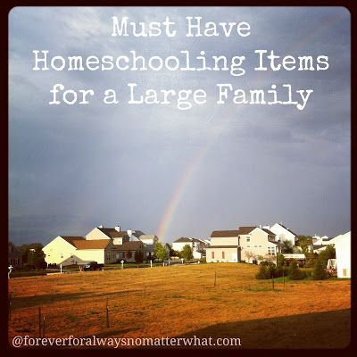 Must Have Homeschooling Items for a Large Family | Forever, For Always, No Matter What