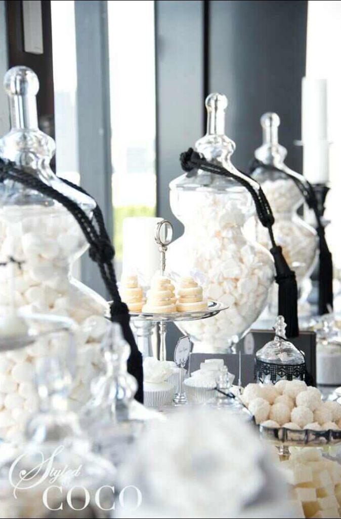 Chanel Inspired Wedding Dessert Buffet Dessert Buffet Pinterest