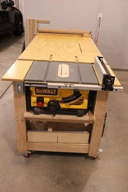 Tablesaw, router, fliptop mitersaw, dust collection workbench