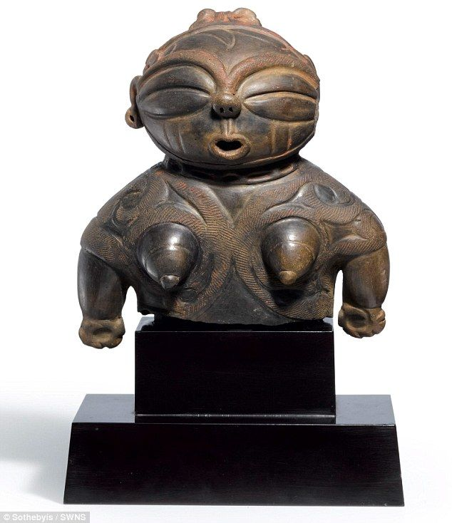 The 2,800-year-old 'dogu' is a ceramic figurine which was made in the northern Tohoku regi...