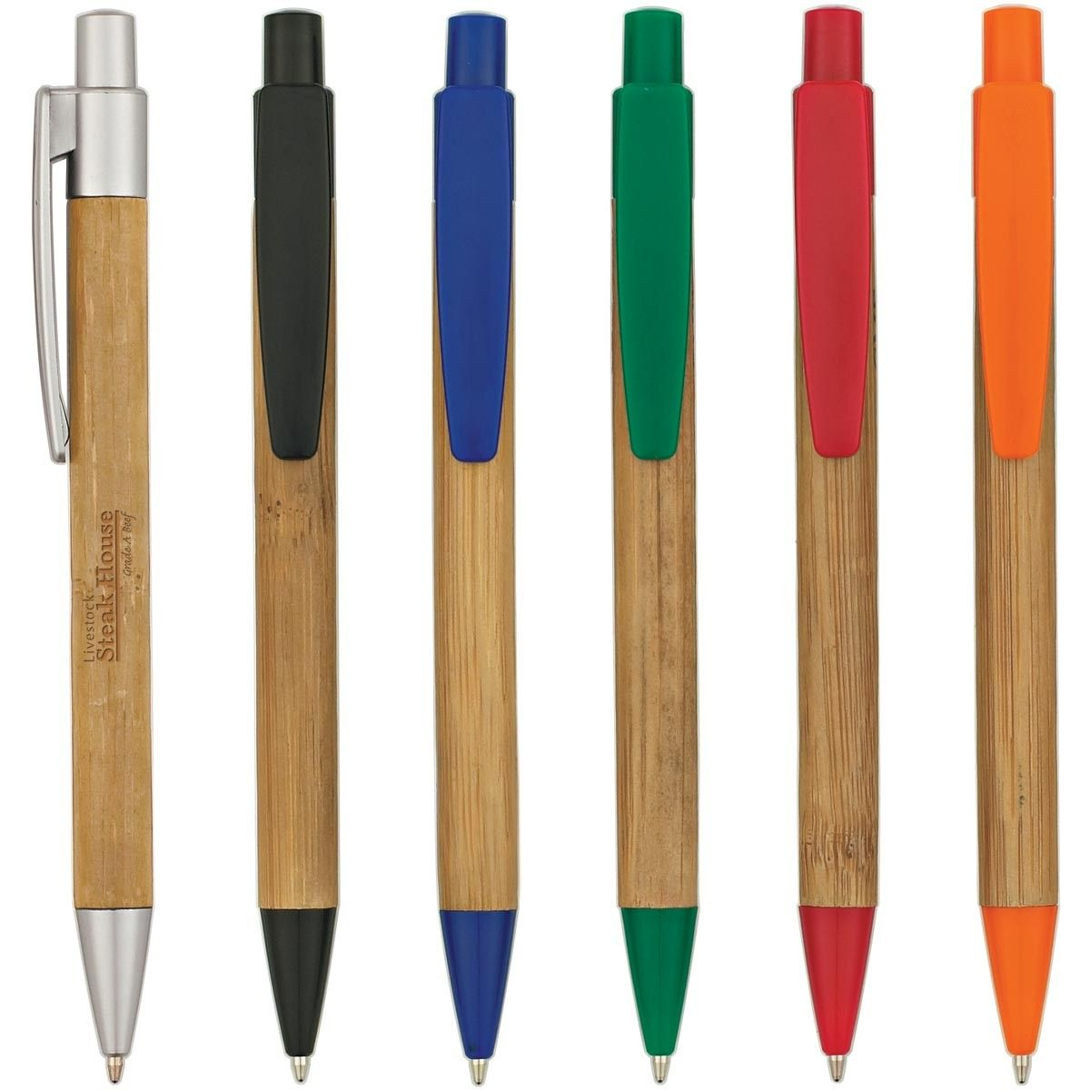 Bamboo Barrel Pens