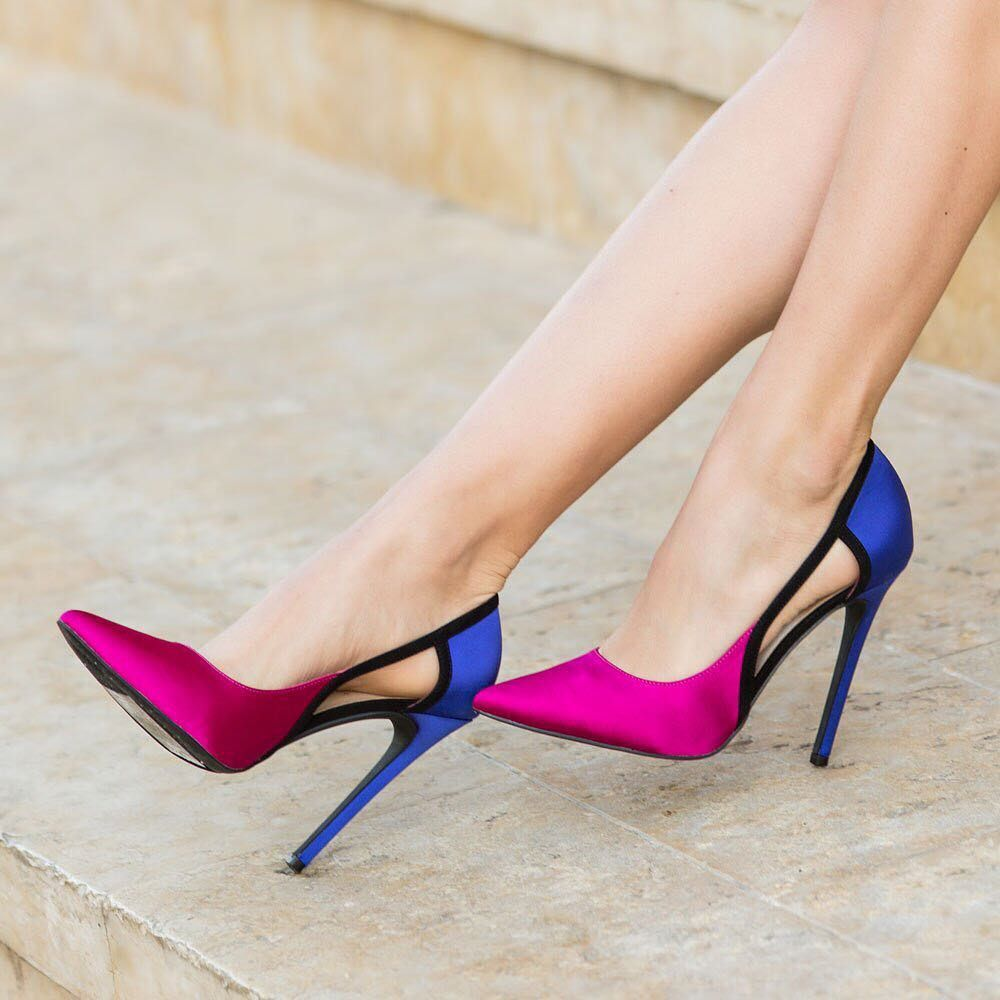 "7bf719f6c899 ShoeDazzle on Instagram  ""Color-block Beauty 👠l Featured  Isabella ..."