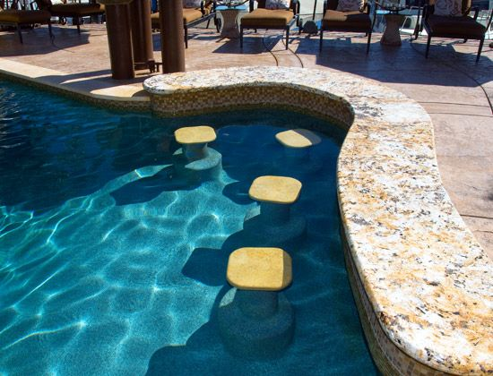 Swim Up Bar Stool | Awesome Gifts For Women | Pool bar ...