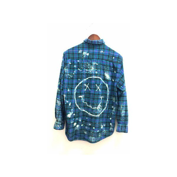 UPCYCLED and THRIFTED Plaid Shirt  Oversized Plaid Shirt  Hand Dyed Clothing Tie Dye Shirt90/'s ClothingTie Dye ShirtThrifted Clothing