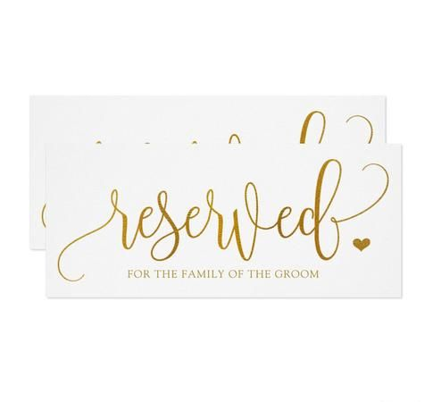 this lovely reserved card features faux gold foil on luxurious 4 x