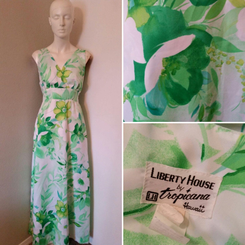 Vintage Liberty House by Tropicana Hawaii maxi dress Hawaiian dress ...