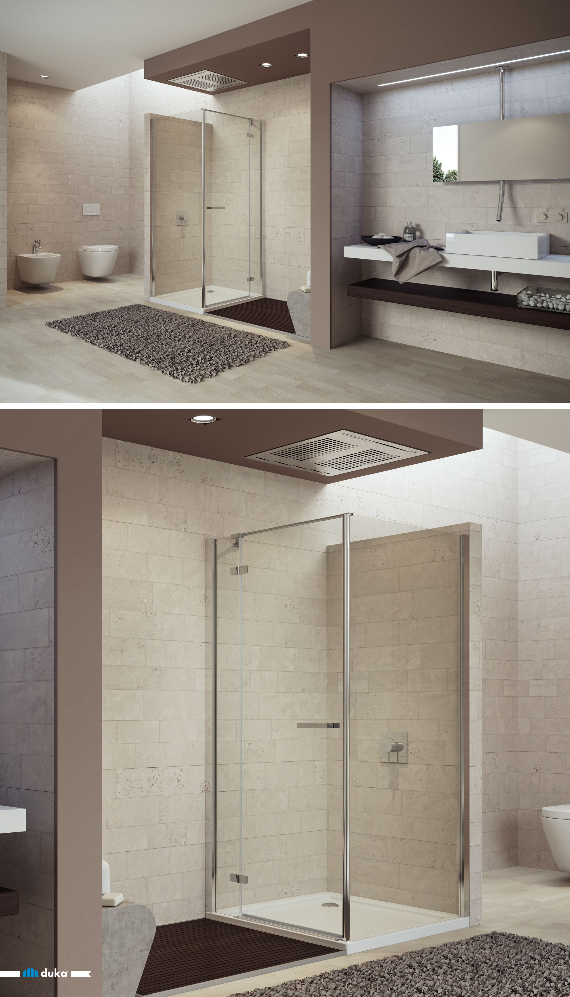 Gallery 3000 Sandstone Walls In Combination With Thin Vertical Aluminium Profiles The Summary Of This Contemporary Bathrooms Shower Enclosure Sandstone Wall
