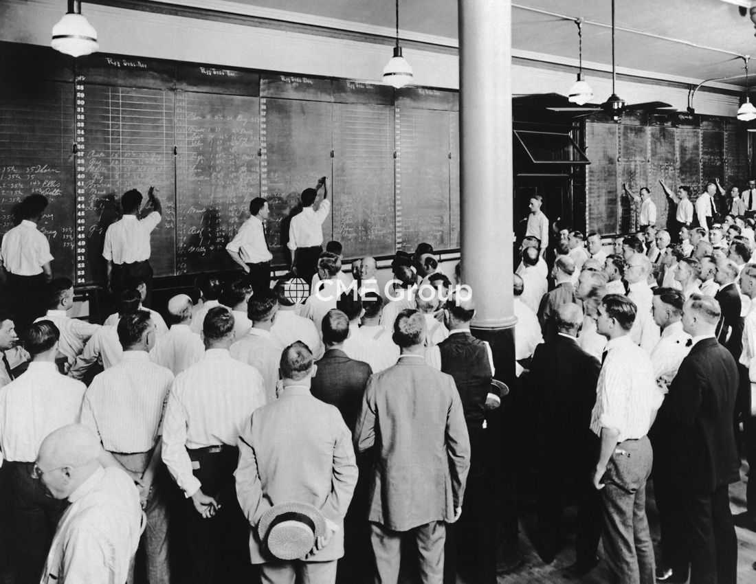 Historical Photo Trading Floor Risk Management Future Options