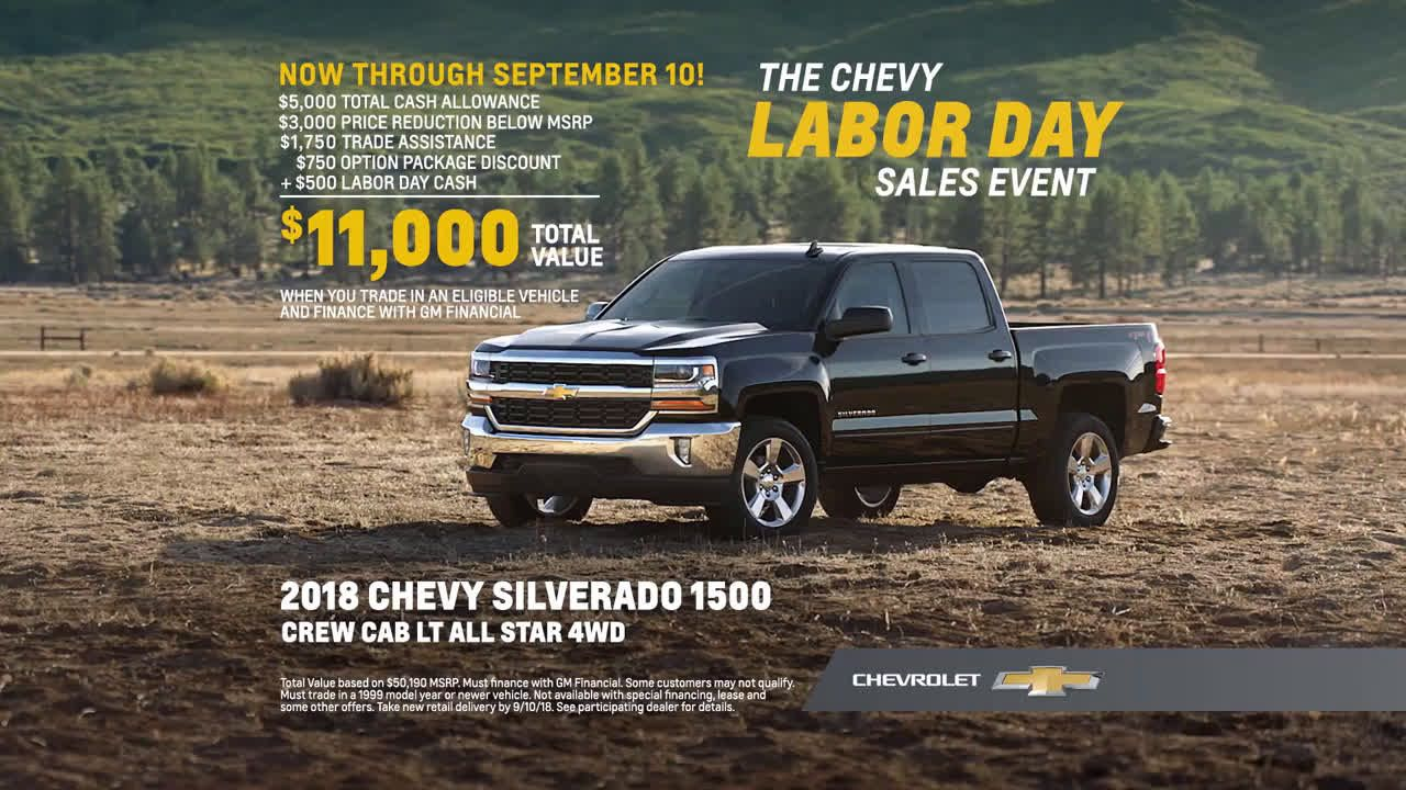 Chevrolet Chevy Labor Day Sales Event 2018 Chevy Silverado
