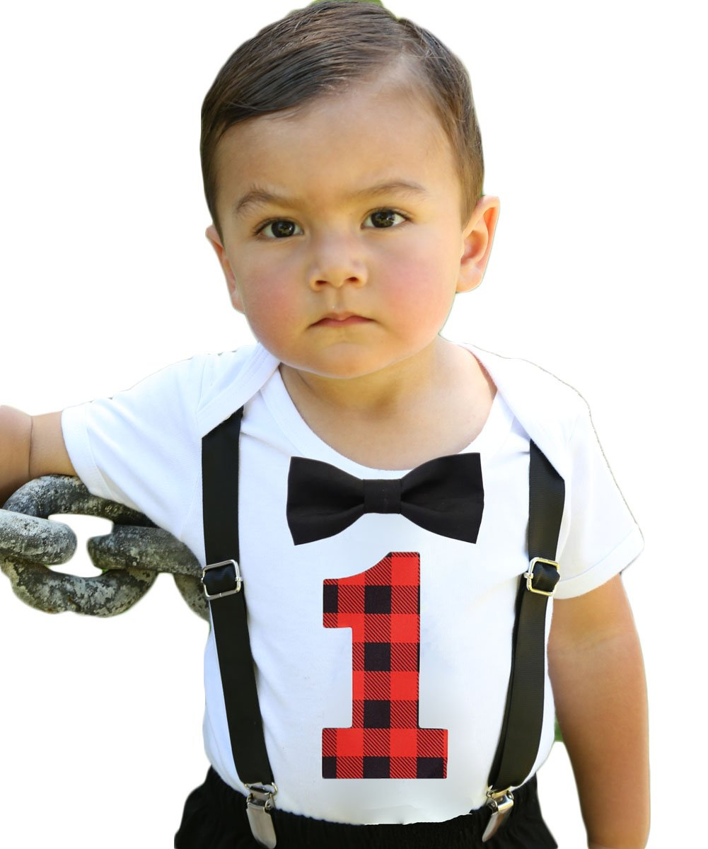 Baby Boy Lumberjack First Birthday Party Outfit Buffalo