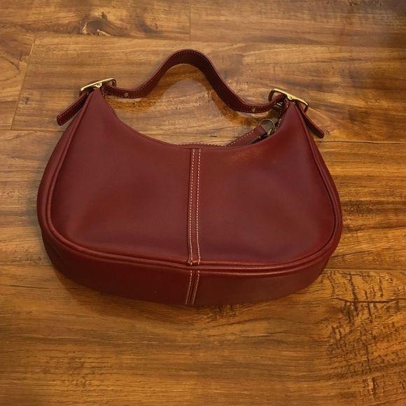 Vintage Coach mini purse Gorgeous red Coach mini purse. Excellent condition. Coach Bags Mini Bags