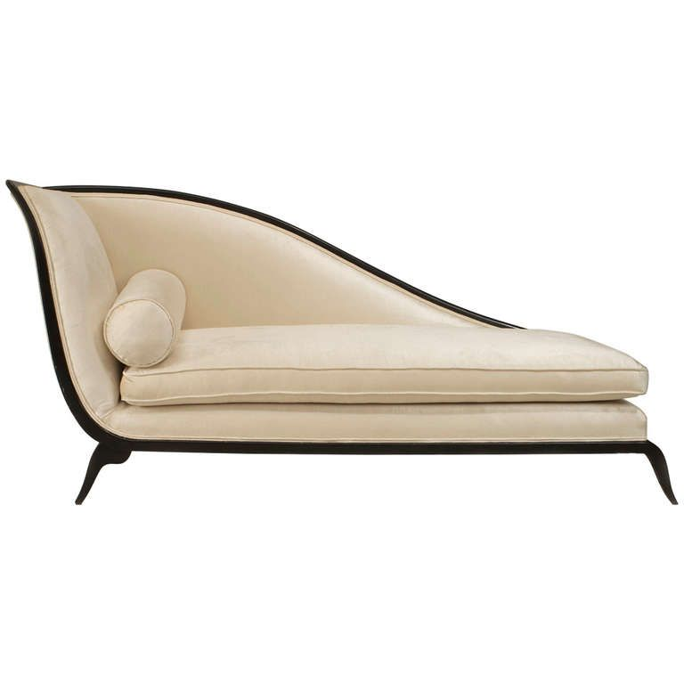 French Art Deco Upholstered Sleigh Back Recamier From A Unique Collection Of Antique And Modern Chaises Longues At Http Www French Art Deco Chaise Art Deco