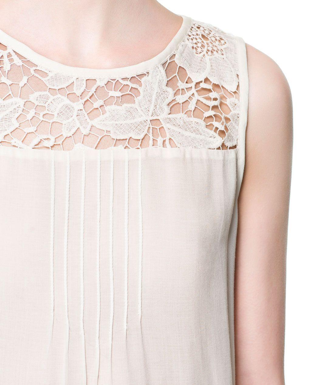 BLUSA GUIPURE - Camicie - Donna - Nuova collezione | ZARA Italia