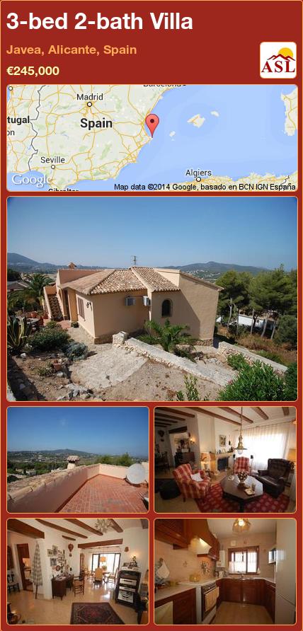 3-bed 2-bath Villa in Javea, Alicante, Spain ►€245,000 #PropertyForSaleInSpain