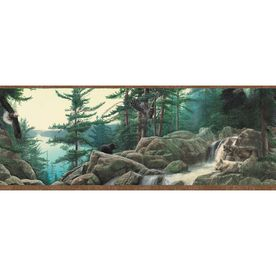 Allen Roth 10 1 4 Earth Tone Wildlife Nature Prepasted Wallpaper