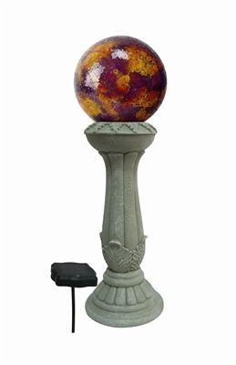 Genial Solar Gazing Globe Stand With 3 LED Lights. Display Your Gazing Globe  Collection With This Beautiful And Functional Solar Gazing Globe Stand.