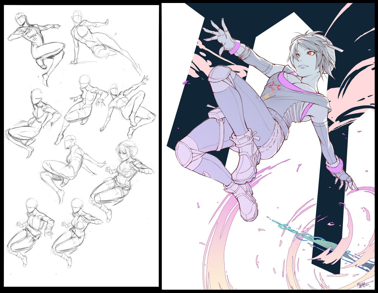 Commission Kat Anime Poses Reference Art Reference Poses Jumping Poses