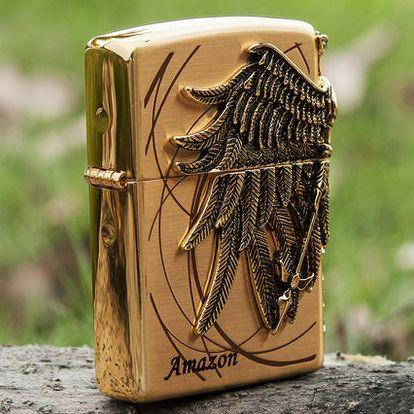 Japanese Korean Golden Amazon Plated Emblem Zippo Lighter Zippo Lighter Zippo Lighter