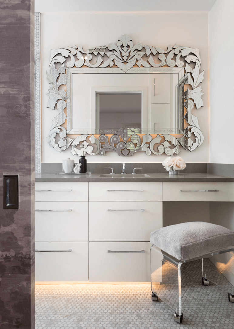 Unique Mirrored Frame | Ideas for the House | Pinterest | Bathroom ...