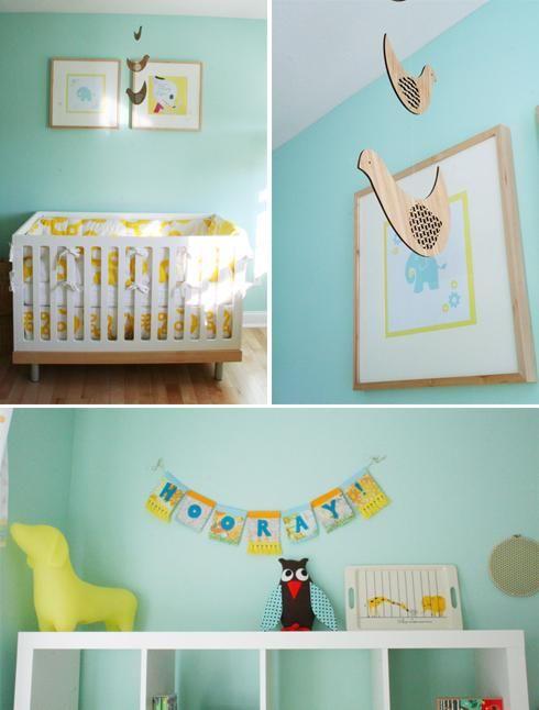 Chambre d\'enfant jaune et bleu   Chambre jaune, Deco chambre et Jaune