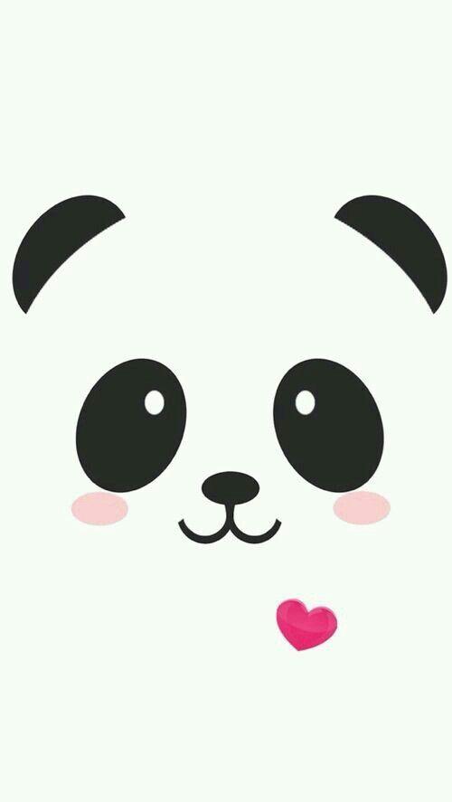Tapete Fondos Tapete Panda Zeichnung Einfache Niedliche Zeichnungen Niedliche Hintergrundbilder