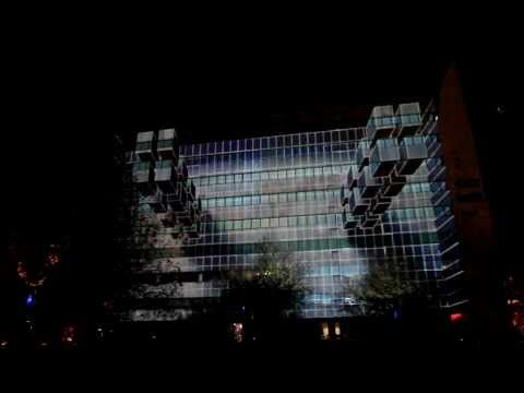 3D Projection Mapping - Afterlight - 'Gridular 3.0' - Glow 2012 - YouTube