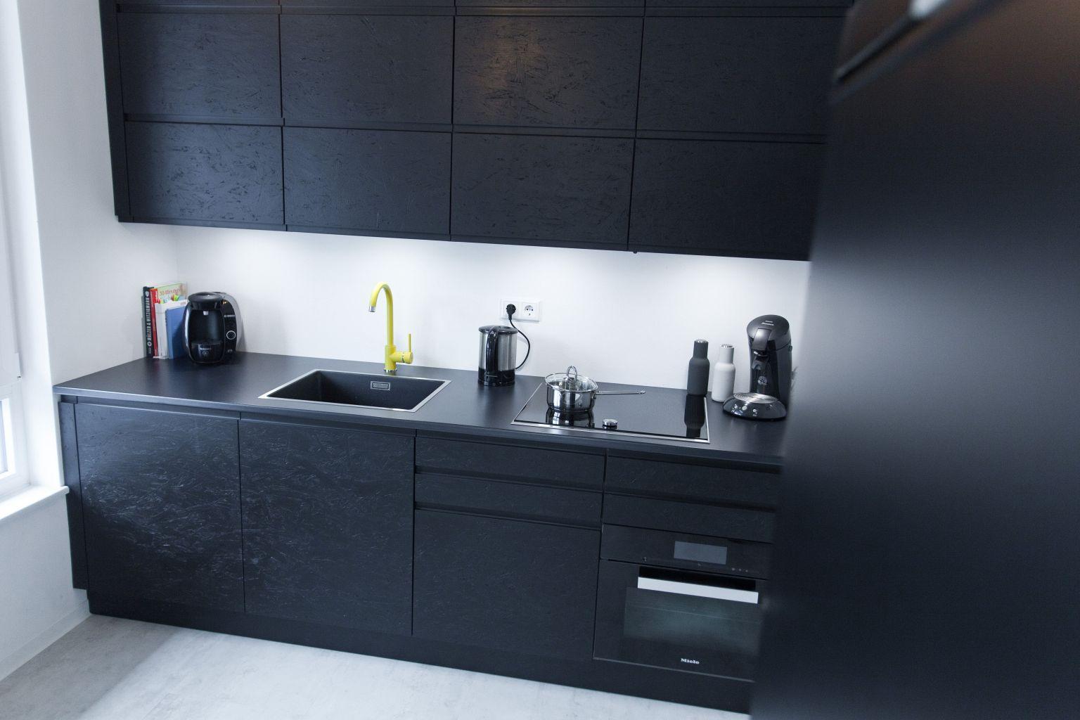 Küche Schwarz, Küchenmöbel Und