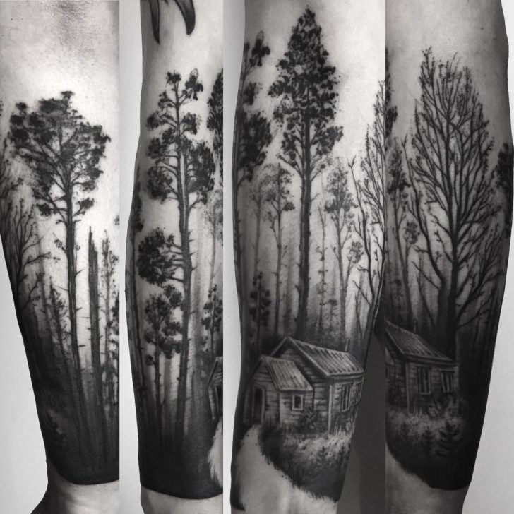 related image tattoos forest tattoos landscape tattoo. Black Bedroom Furniture Sets. Home Design Ideas