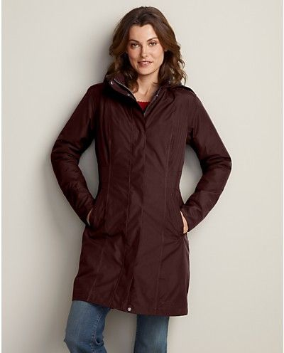 37ae1e79cc2 WeatherEdge® Girl on the Go® Insulated Trench Coat | Eddie Bauer ...