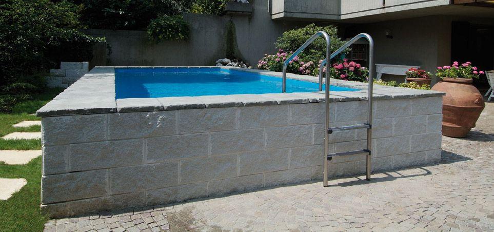 Scaletta piscina fuori terra dolcevita piscine seminterrate laghetto piscina pinterest - Scaletta per piscina fuori terra ...