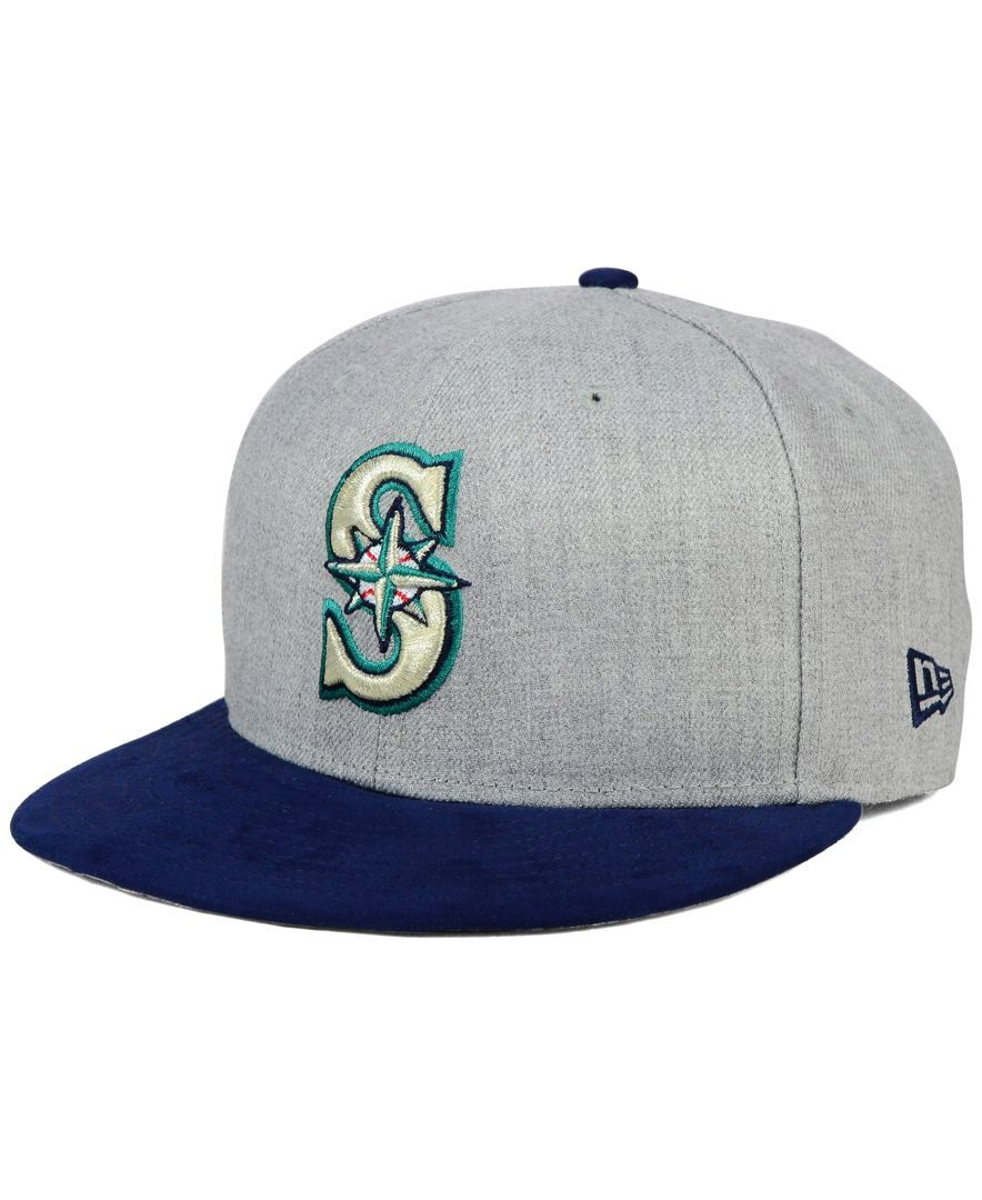 newest 407f6 3bcb4 New Era Seattle Mariners Heather On Faux-Suede 9FIFTY Snapback Cap