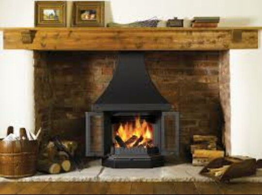 Oak Plinth Brick Cove Natural Stone Slabs Beautiful Rustic Fireplaces Wood Burner Fireplace Wood Burning Fireplace Inserts