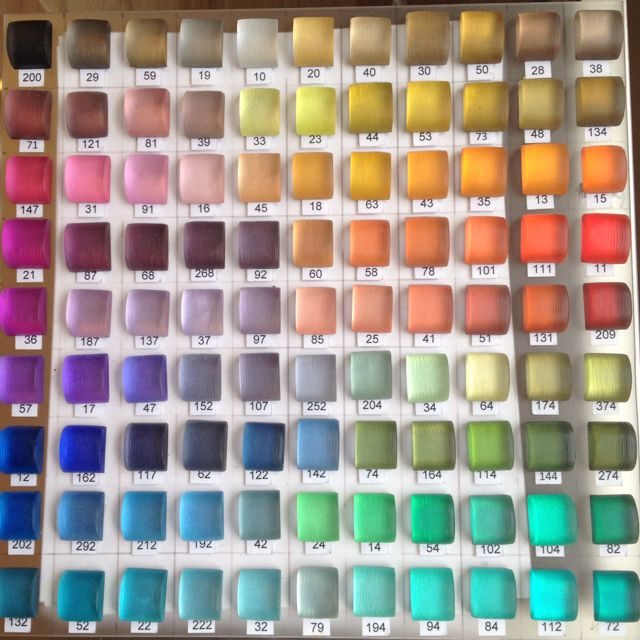 Board of Lucite colors at Alexis Bittar showroom
