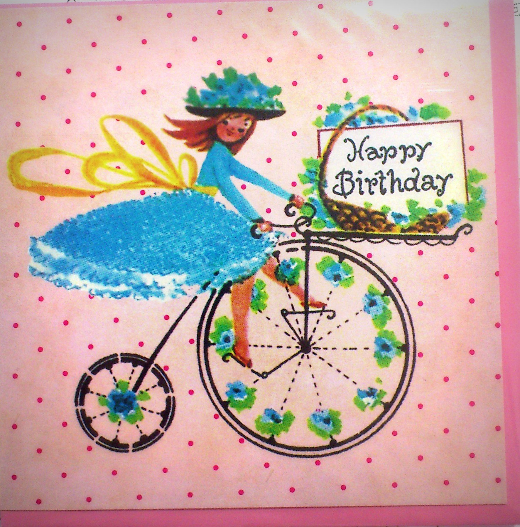 Happy Birthday Penny Farthing Card At Rua Dublin
