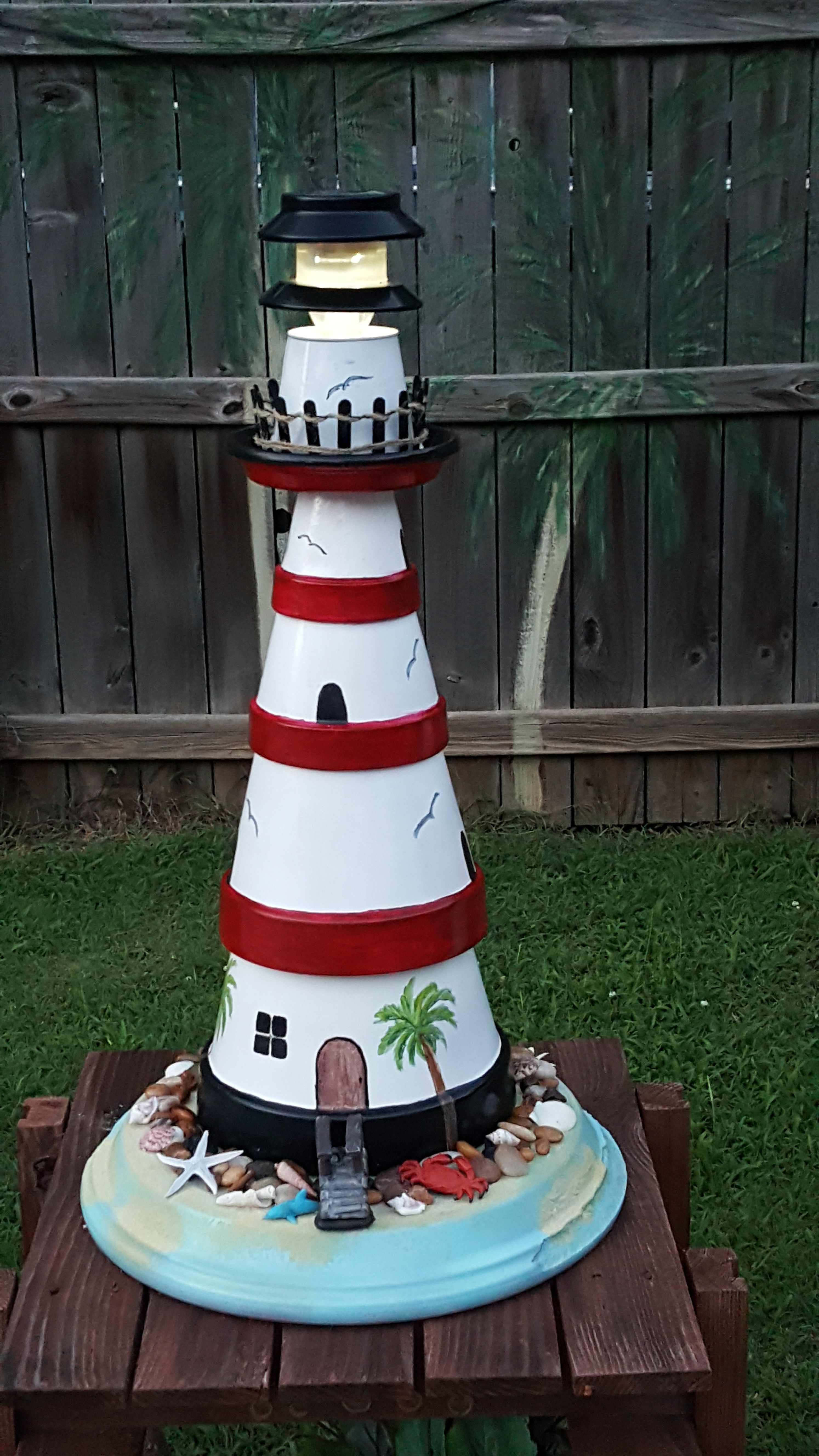 Clay Pot Lighthouse Light Houses Majakka Puutarhaideat Kukkaruukku