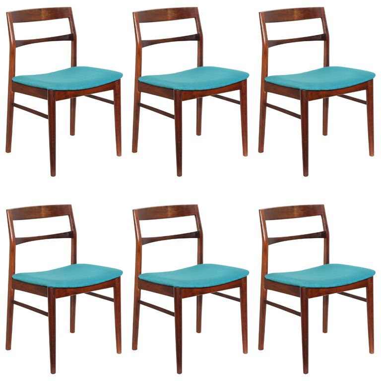 Curved Back Dining Room Bench: Set Of 6 Solid Rosewood Curved Back Dining Chairs