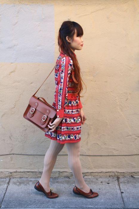 sweet red print dress