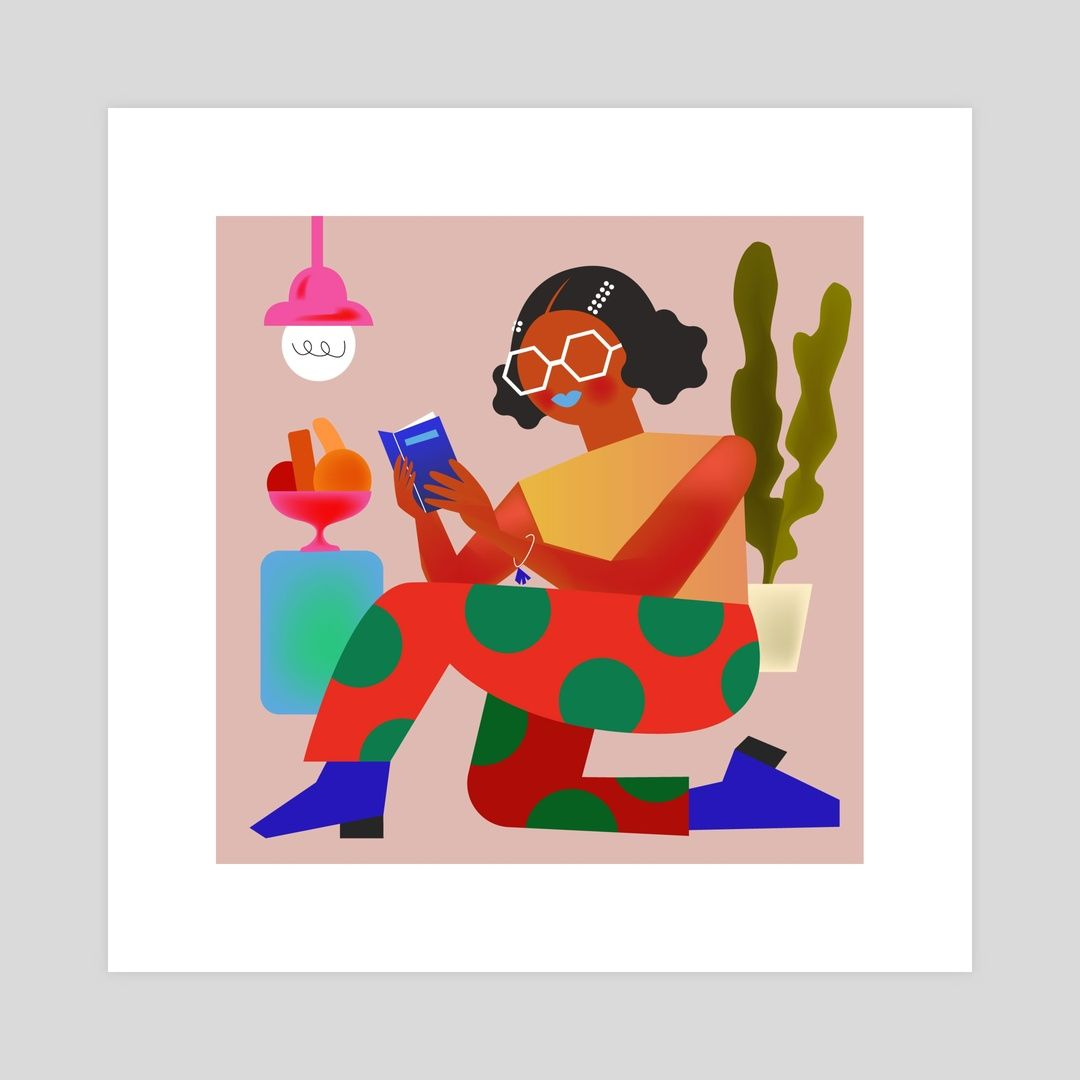 Reading Girl By Ellie Suh