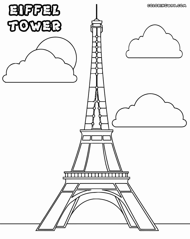 Eifel tower Coloring Page Unique tower Coloring Pages in ...